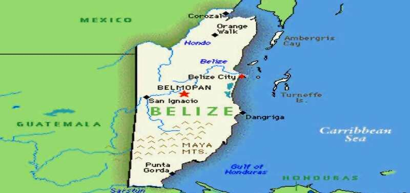 cartina Belize