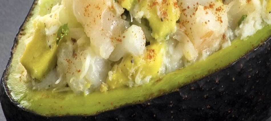 avocado ripieno cotto e maionese