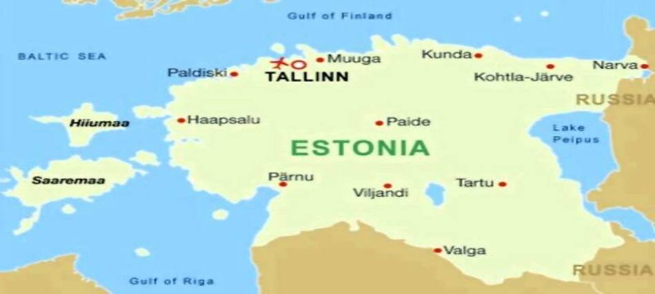 cartina Estonia